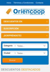 Beneficios y Descuentos Oriencoop versión móvil